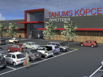 Presentationsbild för referensen Tanum Shoppingcenter