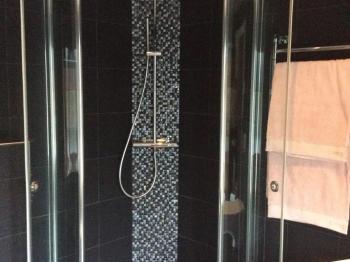 Bild för referens Badrum med massagebadkar och duschplats
